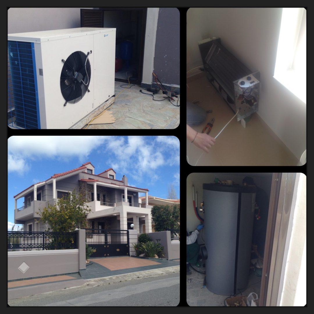 Μελέτη & Επίβλεψη Εγκατάστασης Αντλίας Θερμότητας με Fan Coils σε Οικία